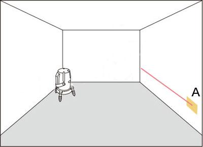 水平ライン簡易チェック方法