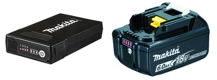 専用バッテリーと充電工具のバッテリー
