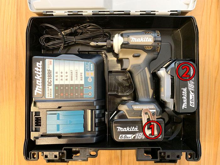 TD171Dのケースではバッテリーは2個まで