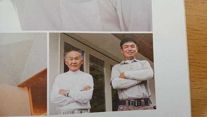 お父様と安永さん(画像提供:安永左官工業)
